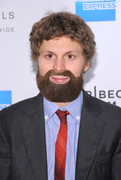 Michael Cera with Zach Galifianakis' beard.