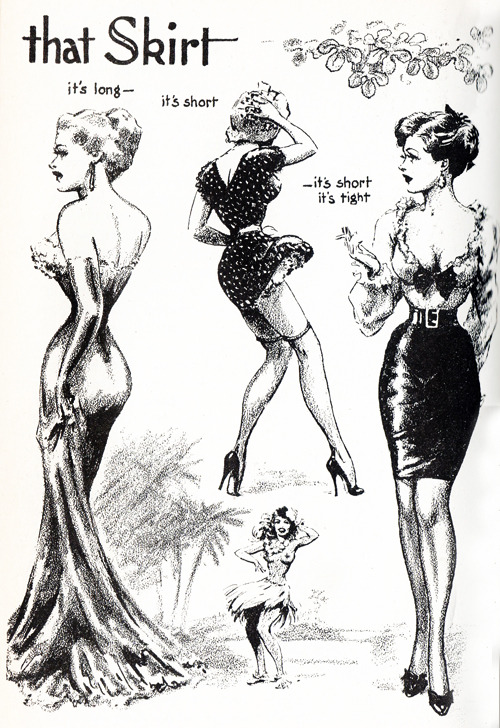 vintagegal:  Illustration by John Willie from Bizarre Magazine issue 7, 1952