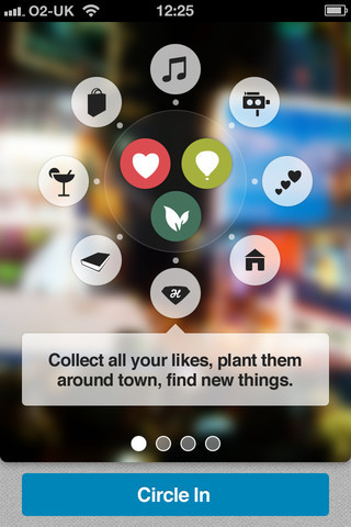 lovelyui:  walkthru on CircleMe  Interesting app, beautiful looking too gonna have a play