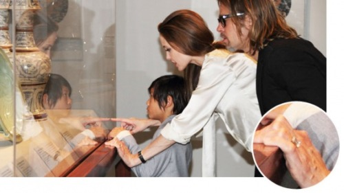 Diamond or not, Angelina Jolie's flat claw hand is so scary.