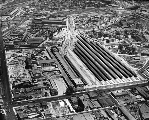 L.A.'s Union Station nears completion, 1938.