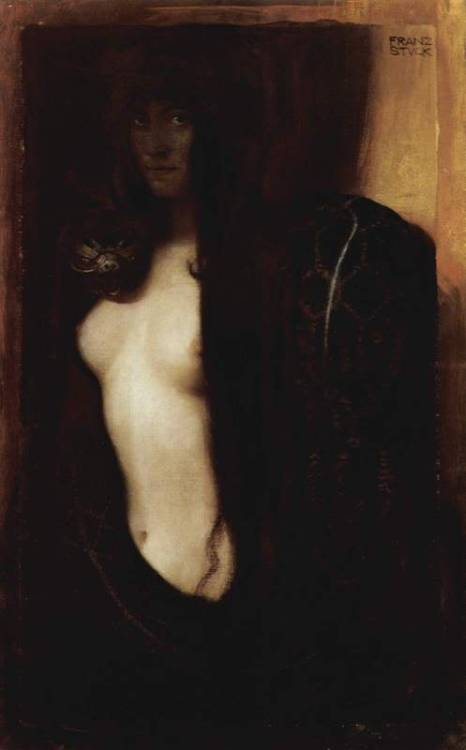 novocainelipstick:  Franz Von Stuck's The Sin (1893)