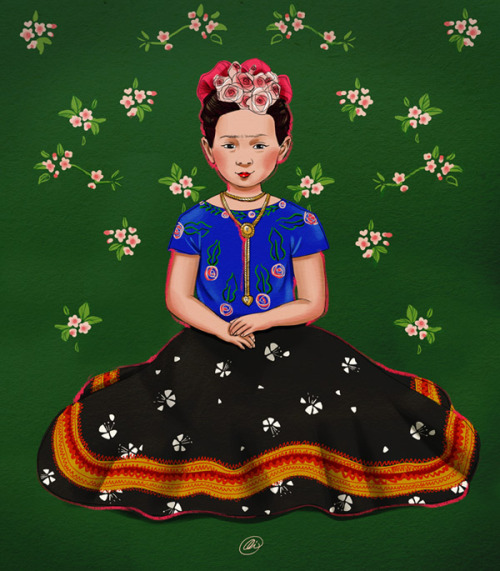 Today's ravishing portrait of Frida Kahlo Adora was created by young Romanian freelance artist Alice Rapcencu from Bucharest. Her tumblr blog. Alice works for clients from all over the world. This was done after a request on the Adora Art Wish List. Mulţumesc, Alice! - - - - - - - - - - - - - - - - When you click on the 'Adora Art' tag, you will be able to see the complete progress of this project since the first portraits of Adora were made