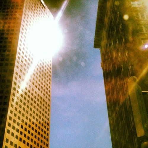#atlanta #architecture #downtown #reflection #sunshine #skyrockets  (Taken with Instagram at Peachtree Street)