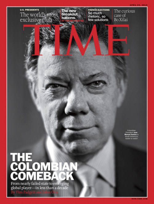 This week's issue of TIME International features Colombian President Juan Manuel Santos and showcases writer Tim Padgett's agenda-setting piece on Colombia's comeback.  On the cover: Photograph by Christopher Morris—VII for TIME