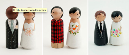 Happy Friday! Sending you off with these cute little wedding cake toppers from lil' cake toppers (via @grnweddingshoes)
