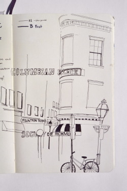 Did some sketching in downtown Richmond today around lunch. It's gorgeous outside if you're on the east!