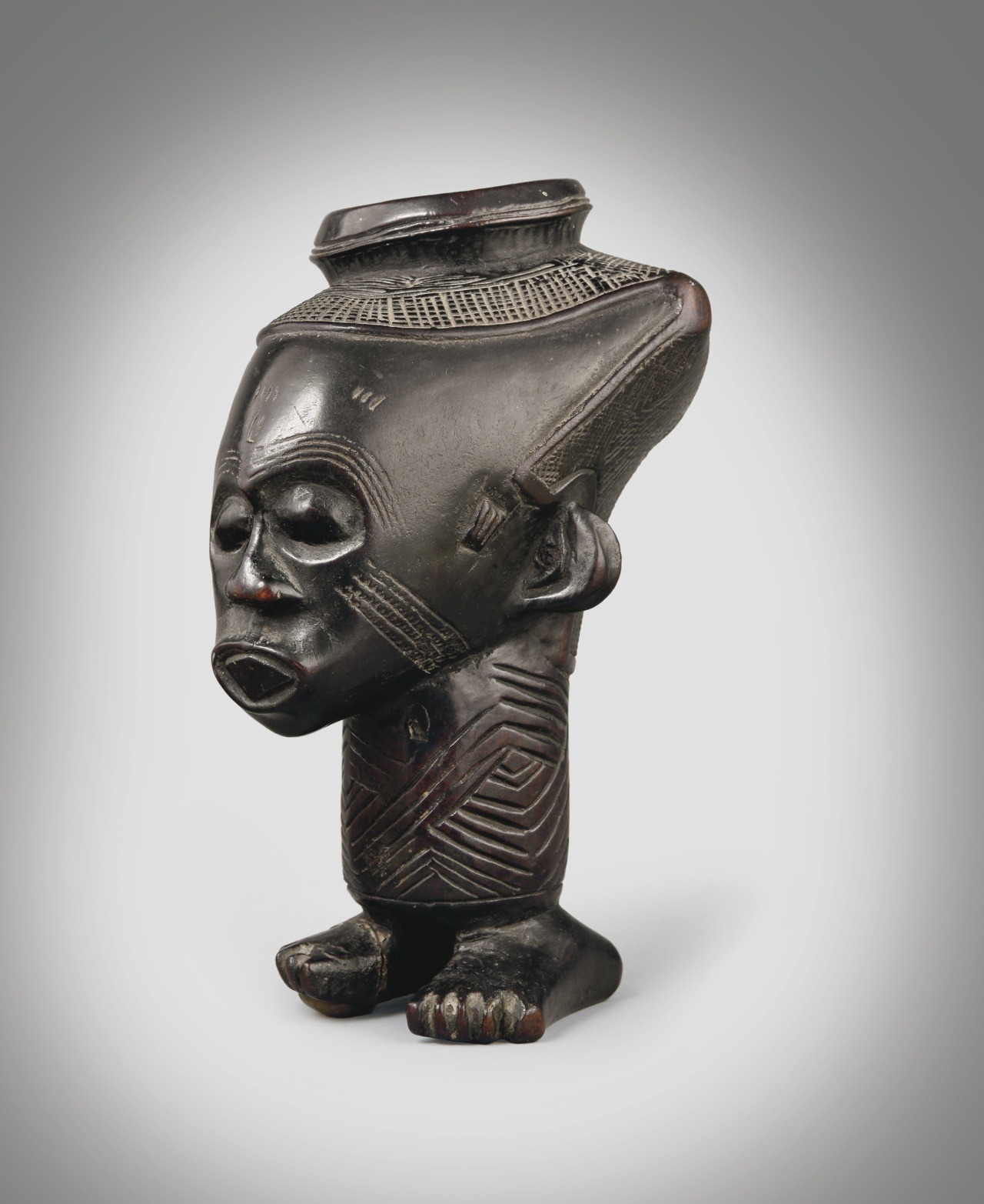 christiesauctions:  Kuba Anthropomorphic Cup, Democratic Republic of Congo Arts of Africa, Oceania and the Americas Including Property from the Estate of Ernst Beyeler