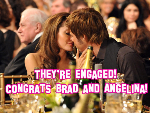 IT'S OFFICIAL! Congrats to Brad and Angelina! More details of the engagement here.