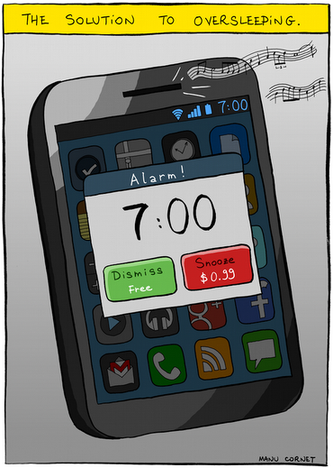 Never oversleeping ever again.