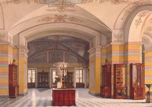 booksnbuildings:  Library interior in the New Hermitage, St. Petersburg (Russia). By Konstantin Ukhomtsky, 1860