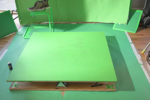 Made this 4'X4' rotating platform for a commercial VFX elements' shoot that I'm working on.