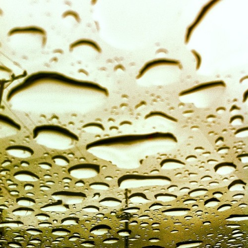 Rain on my sun roof.  (Taken with instagram)