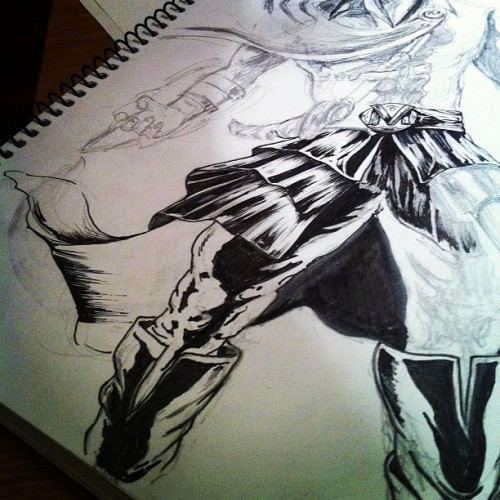 In progress… #maxime a calligraphy heroe (Taken with instagram)