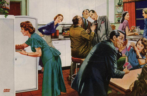 Kitchen Party - 1949 - art by Albert Dorne