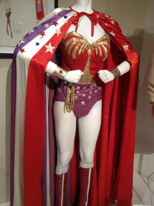 outpost31 submitted:  Lynda Carter's Wonder Woman Costume at the Paley Center Museum in Beverly Hills. Whenever I see anything Wonder Woman, Rian pops into my head.  I guess, subconsciously, I think she's a superhero.  well, I do wear capes on occasion… this warmed the cuckolds of my wannabe Wonder Woman heart <3
