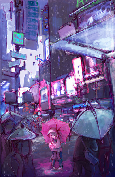 velvetcyberpunk:  All alone in a cyberpunk world.