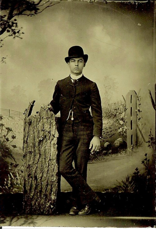 Tintype of an unknown young man Submitted by Steve