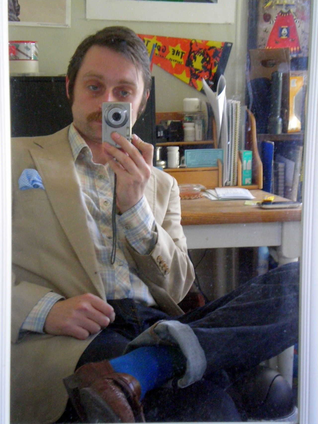 Blogger at Desk with Camera. A Fistful of Style Apr. 2012