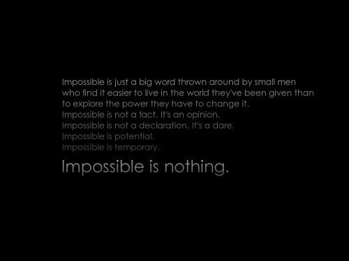 jaymug:  Impossible is nothing - Adidas