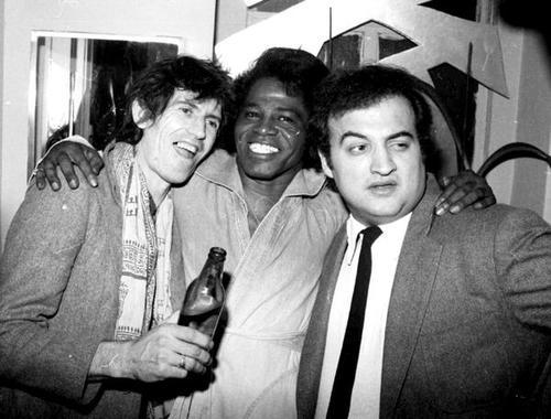 I want to hang with this gang. Richards, Brown, and Belushi