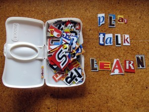 Great use of letters from blogger PlayTalkLearn who shares ideas for speech therapy at home on her blog.