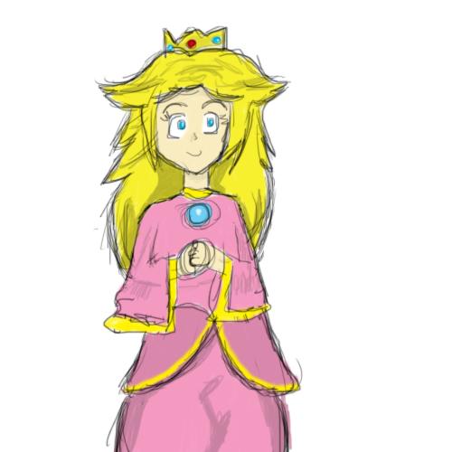 "I just… I dunno. :/ It was supposed to be a ""Queen Peach"" (as opposed to princess LULZ)  but… meh. :P [My headcanon? Peach would take the title of queen when she marries. Not sure of the logic behind that. Edward from FFIV becomes king when his parents die, though he was a prince (and his wife a princess by marriage) beforehand.. BLAH CONFUSING MYSELF LOL. D:]  Photoshop poop FTW!"
