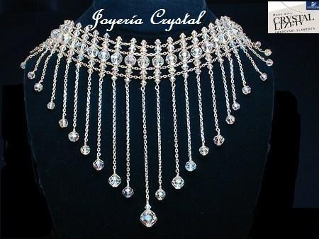 "Prom coming up?This Necklace is Handmade using Swarovski Crystals and Highest Quality SilverUS$1270 with Free Shipping Only 2 left in stock.Jewelry Store ""Beautiful"" Add me in FB: http://www.facebook.com/profile.php?id=100003417753155emailusbeautiful@yahoo.com www.welcomebeautiful.com"
