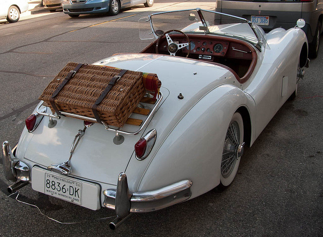 | ♕ |  Jaguar XK-140 w/ Picnic Basket  | by KRFoto