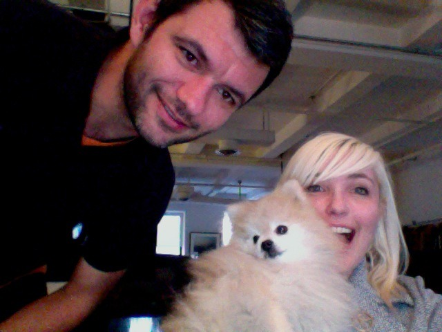 strle:  Pau and TommyPom and I celebrating another great week at Tumblr!