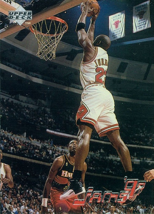 "23 cards of MJ rocking the Air Jordan XII ""Playoffs"""
