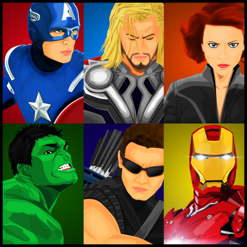 The Avengers Vector Art