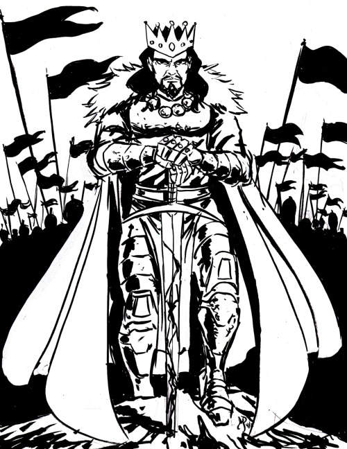 Conquering King for the Comic Art Alliance (www.comicartalliance.com) Theme: war