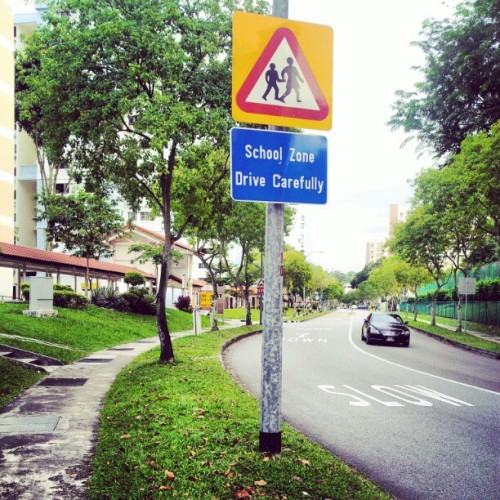 No schools on a Saturday! #sign #school #road (Taken with instagram)