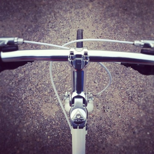 birthday present from joe. first ride. (Taken with instagram)