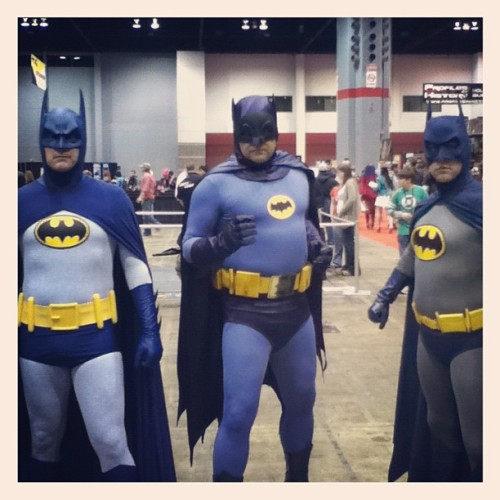 A council of bat men #c2e2 (Taken with instagram)