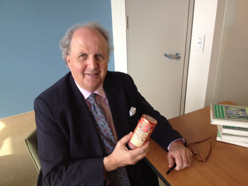 Tea, anyone? Alexander McCall Smith stopped by our offices earlier this week, so we snapped a quick shot of him with his new line of tea from The Republic of Tea. (Vintage/Anchor is raffling off some of these delicious AMS-inspired blends as we speak.) If you're in New York City tonight, he'll be at the Schomburg Center for Research in Black Culture giving a talk. Details here.