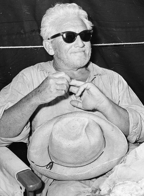 bonaventures:  Spencer Tracy in Cojimar, La Havana, Cuba during the filming of The Old Man and the Sea.