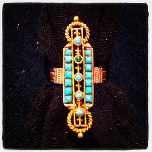 Victorian 18k gold and turquoise ring (Taken with Instagram at Reliquary san francisco)