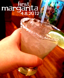 "Margarita (on the rocks w/ salt)Ah the final firstdrink during my Ohio visit home. (One of at least 2-3 more visits I'm sure this year on the Adventure)So I had been waiting to have this drink since the beginning, I'm glad to get it in earlier than later. A drink with my and Joe's Great Aunt Peggy.Aunt Peggy is the kinda aunt they make movies about. Movies where silver haired women dye themselves fire engine red, randomly buy a cherry convertible and drive cross country in search of adventure, younger men and the perfect BLT. Regrettably, I didn't get to meet Aunt Peggy when Uncle Dan was still living. While there are a spectrum if thought around how he would have accepted and delt with Joe's and my relationship, the stories I'm told always make him sound like a really cool and great guy.Since his passing, Aunt Peggy has stayed committed to living, adventure, and thoroughly enjoying life. She was one of the first family members of Joe's that I met. And she was quick to welcome me with no question, no raised eyebrow. I knew the first time I met her that she loved Joey very much and because he loved me, she did the same immediately. It was a really cool moment in my life to see that kind of love in Joe's life, in his family. It continued to affirm my faith in our relationship at the time. (woah, this is getting deep, right?)Anyway, to say Aunt Peggy is fun is an understatement. She's sassy, sometimes bratty, highly opinionated, is well educated, well read, and travels the world sucessfully. We lived with her for a brief period of time before we bought our home in Ohio and while she and I grew even closer, we also drove each other crazy sometimes.I'd like to think it's because she and I are kinda alike. But probably too because a 30+ year old and a 70+ 39++ year old will see differently from time to time.But I love that crazy lady. And she loves me. And she also loves her margaritas. She does this cute/funny thing when you even mention one to her. ""Hey Aunt Peggy, did you have a margarita with dinner last night out with the ladies?""First, she'll make this little tight flapping noise with her lips like she's hungry and savoring something delicious. Then, she'll usually say, ""Mmmm, mmmm, mar-ga-ri-taaaas. Yes indeed. Yum! I love'em!"" Adorable. So it was at the end of our trip and we had already had a long visit in just such a sort time, but we decided to close our Easter Sunday with a visit to a local steakhouse to have some dinner—it's the Midwest, so we choose Outback. And while there, we made sure to grab a margarita. One the rocks. Always rimmed with salt.Even without first licking the salted rim, the drink was sorta salty on it's own. I think I thought the drink was going to really punched up with lime, but the lime was more a back note, stronger in the finish than the actual drink. It was sweet, super tangy, with almost a hit of honey. The tequila had some solid bite to it and it certainly sticks in your sinuses. The drink is cool and refreshing but the background—maybe from the alcohol—was kinda earthy, with a nice plant like quality that was more pleasant than off-putting. I made sure to have a few sips from the rim, getting some salt. I'd be lying if I said it was my preference. The salt dulls the lime, kicks the alcohol up a few notches and almost stings going down in a way that just kept me wincing.And kept Aunt Peggy amused. Over 8+ years now since getting to know Aunt Peggy, I've noticed a few of her ticks, habits and behavior patterns. She sometimes likes to be fully engaged, and sometimes she likes to fain interest—but by watching quietly, unassumingly. If you're not paying attention, you'd think she's almost ignoring you.But she's not.I could watch her quietly watching me drink the drink. My subtle—and not so *cough cough* subtle—enjoyment of the drink was highly amusing to her. ""So kid, what did ya think?""""I liked it. I think I thought I was going to love it. But I really liked it.""""Well, if you have enough of them they start to like you back, so be careful."" I laughed at that and she laughed with me. ""I love them so they tend to love me.""""Is that a fair warning for me?""""Nope, it's just life I guess."" And at that she really laughed it up. And so did Joe and I. So Cheers to Aunt Peggy. We are blessed to have her in our lives. And she always puts up with us. It's pretty win-win, I would think. Damn, I love that woman. And I really like that my little drinking Adventure is allowing me to share some pretty great moment with people I love. It's fun to align a drink, an experience with people I care about so deeply. So when don't have the luxury to be directly with them, I can still share a moment with them over a drink. Aunt Peggy, when I'm really missing you, I'll reach for a small margarita on the rocks with salt. And there you'll be.Unless you finally take the leap and get an iPhone or iPad. And then we'll just Facetime. Margarita or no margarita. (but probably with a margarita…)Cheers, BenPS: And that caps off my recent Ohio visit. Next up, I just had 3 crafted drinks last night at a special pop-up summer menu preview at 918 F Street with Founding Farmers here in DC. I'll be writing about that for tomorrow's post. Be looking for that one…"