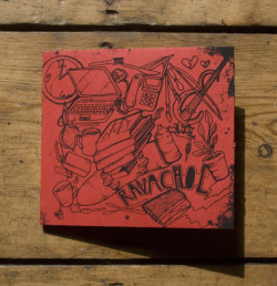 Ravachol - One colour, black print onto custom, handcut red card by the awesome ACDSleeve. Massive thanks again to Tom for all his help! Design by Emma, inlay photo by Joe (Attack! Vipers!) These are available now from here! Not many left after tour and we probably won't make any more. Thanks to everyone that has picked up a copy so far!
