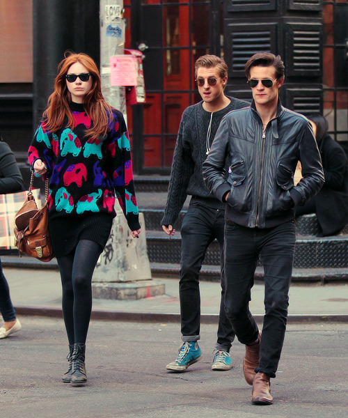 doctorwho:  Karen, Matt, and Arthur in SoHo NYC