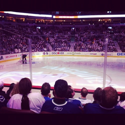 Getting ready. So excited. #canucks  (Taken with instagram)