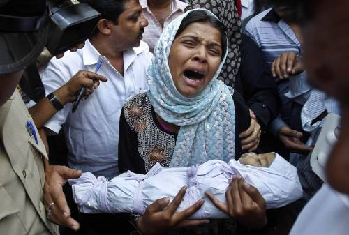 Gender selection Reshma Bano wails as she holds the body of her 3-month-old daughter Neha Afreen outside a hospital morgue in Bangalore, India, April 11. Afreen was admitted to the hospital on April 8 after allegedly being battered by her father for being born a girl. Police said the father confessed to the crime and was in custody, according to media reports. - MSNBC Week In Pictures April 5-13   It is things like this that break my heart.  It is also things like this that make me very angry and disgusted. Our purpose on this planet is not to hurt one another.