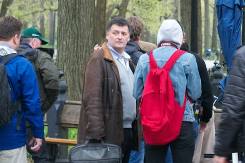 I just love the look on Moffat's face as he takes in all the fans that were there. And he doesn't even realize at that point what's waiting him Thursday night!