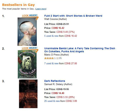 ... Fiction/Gay) and #4 in another (Literature & Fiction/Short Stories) on ...