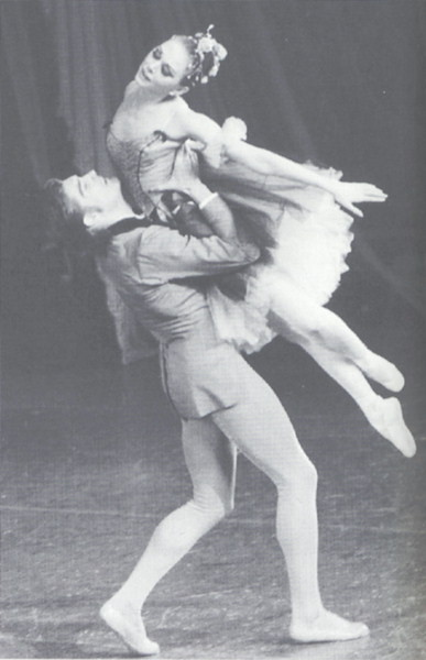 "Allegra Kent and Conrad Ludlow in George Balanchine's ""Brahms - Schoenberg Quartet"" - New York City Ballet - 1966"