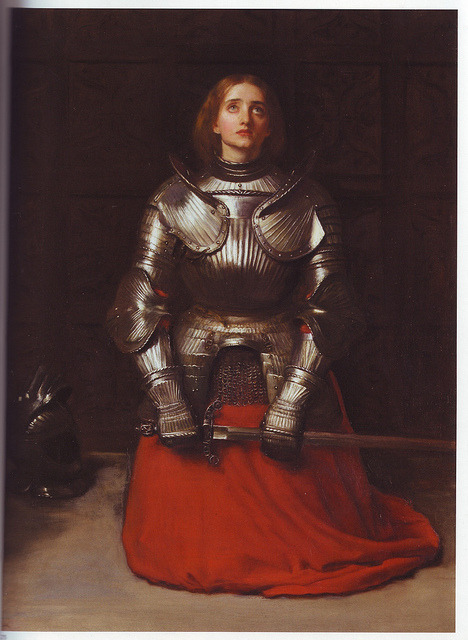 thepowerofart:  Sir John Everett Millais, Joan of Arc, 1851.