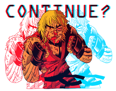 Dan Hipp draws a 3D and beaten up Ken Masters. #capcom #SF #art
