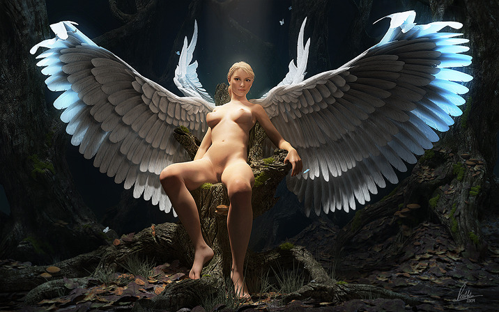 A very nice CG Angel girl. found over on gfxartist.com via Stumble…